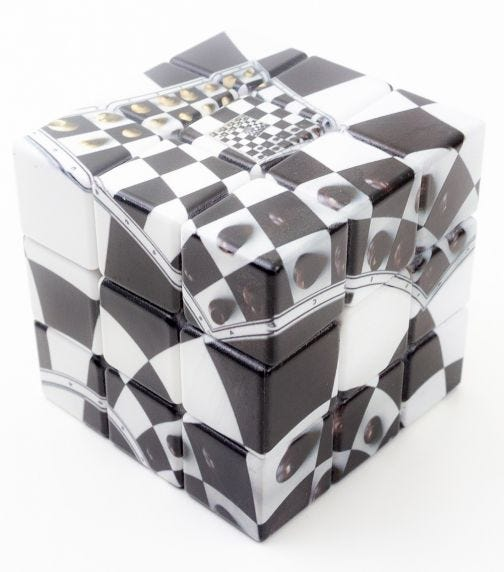 V-CUBE Chessboard Illusion 3 Flat