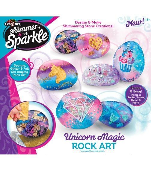 SHIMMER 'N SPARKLE Unicorn Rock Art