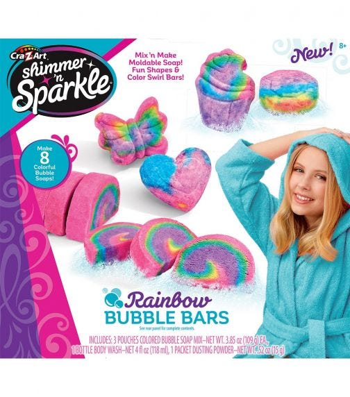 SHIMMER 'N SPARKLE Scented Soap Bubble Bars
