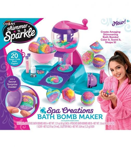 SHIMMER 'N SPARKLE Spa Creations Bath Bomb Maker
