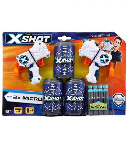X-SHOT Excel, Double Micro 3 Cans, 8 Darts
