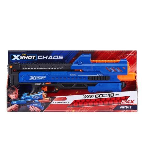 X-SHOT Chaos Orbit 1X Blaster, 24 Dart Ball