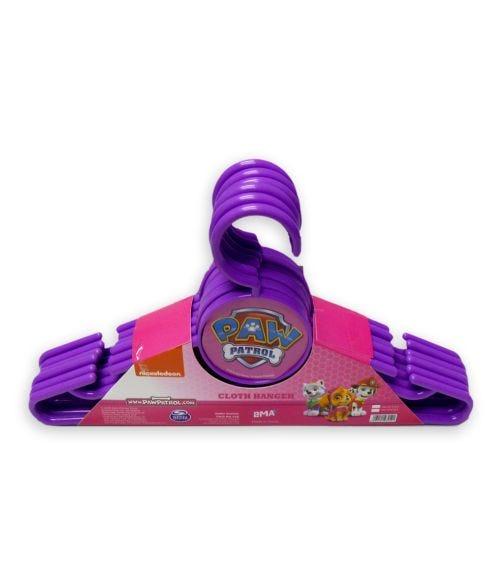 PAW PATROL Nickelodeon Girls Cloth Hanger Round 6 Pieces Set
