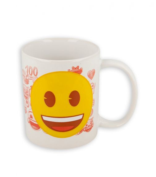 SMILEYS Yellow Face Emoji Mug 11Oz