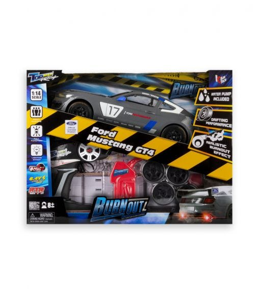 KIDZTECH 1:14 CARRERA RC Burnoutz Ford Shelby GT4 Rechargeable