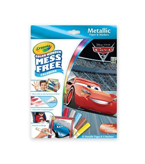 CRAYOLA Color Wonder Metallic Paper & Markers Cars 3