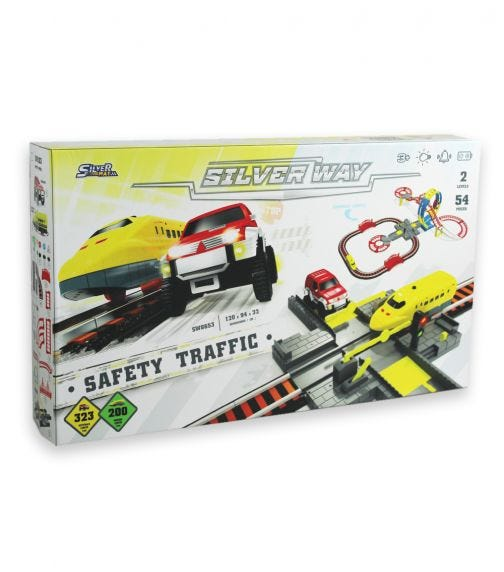 SILVER WAY Battery Operated Train Track Set