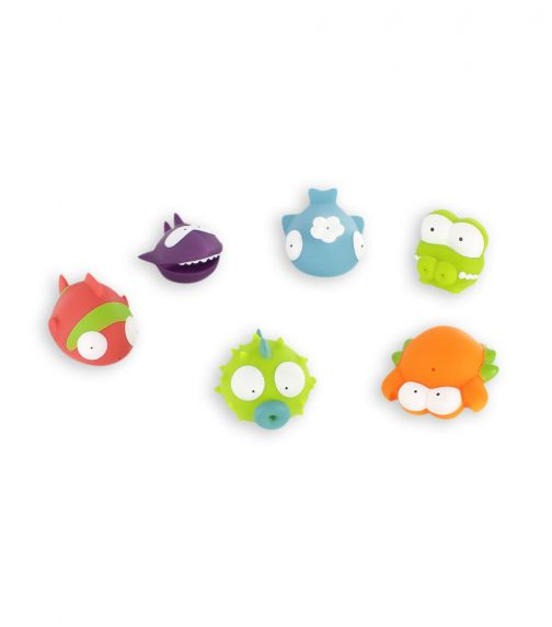 BADABULLE Ocean Animals Bath Toys X 6