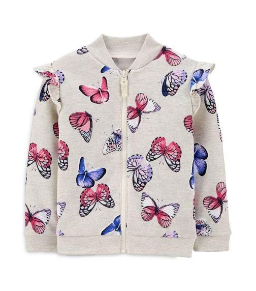 CARTER'S Butterfly Zip-Up Fleece Jacket