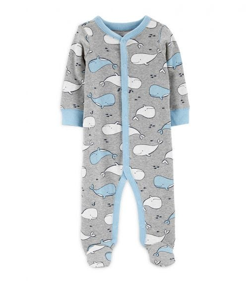 CARTER'S Whale Snap-Up Cotton Sleep & Play
