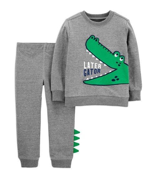 CARTER'S 2-Piece Alligator Pullover & Jogger Set