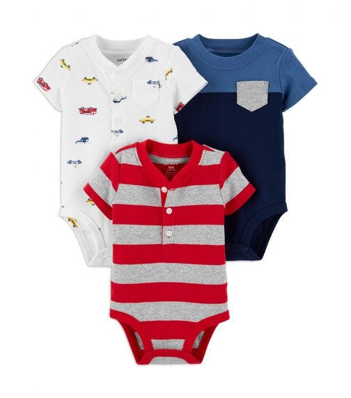 CARTER'S 3-Pack Short-Sleeve Bodysuits