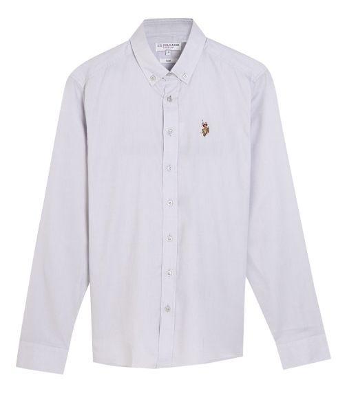 US POLO ASSN. - Basic Shirt Light Grey
