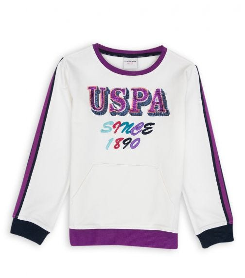 US POLO ASSN. - Essential Sweat Shirt Off white