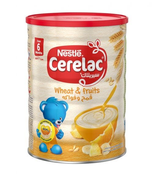 NESTLE Cerelac Infant Cereals With Iron And Wheat & Fruits