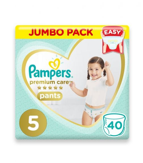 PAMPERS Premium Care Pants Diapers, Size 5, Junior