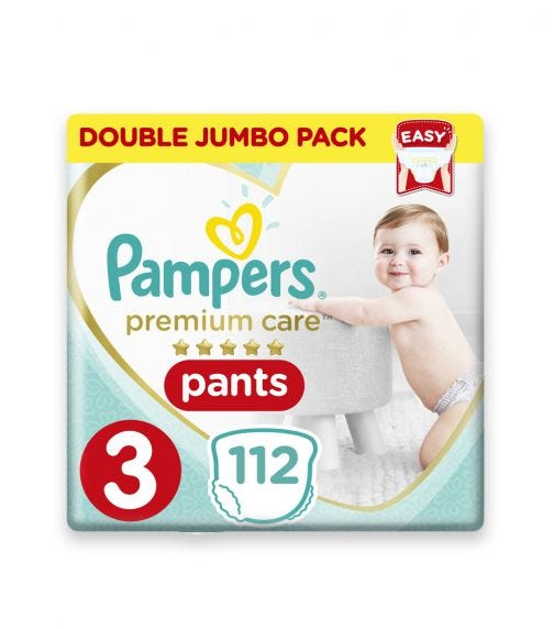 PAMPERS Premium Care Pants Diapers, Size 3, Midi