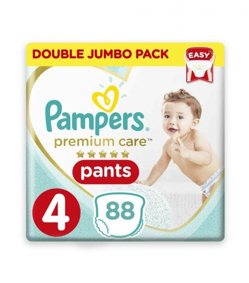 PAMPERS Premium Care Pants Diapers, Size 4, Maxi