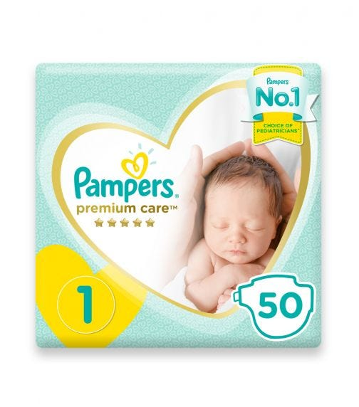 PAMPERS Premium Care Diapers, Size 1, Newborn
