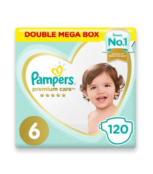 PAMPERS Premium Care Diapers, Size 6, Extra Large