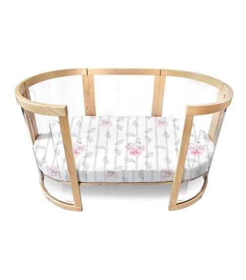 BABYHOOD Amani Bebe Organic Oval Fitted Sheet Cot