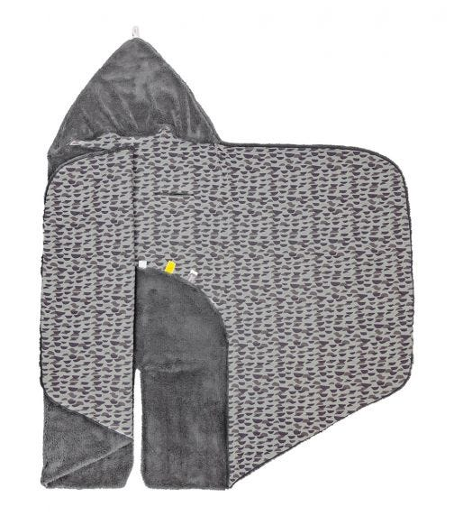 SNOOZEBABY Wrap Blanket Trendy Wrapping Frost Grey