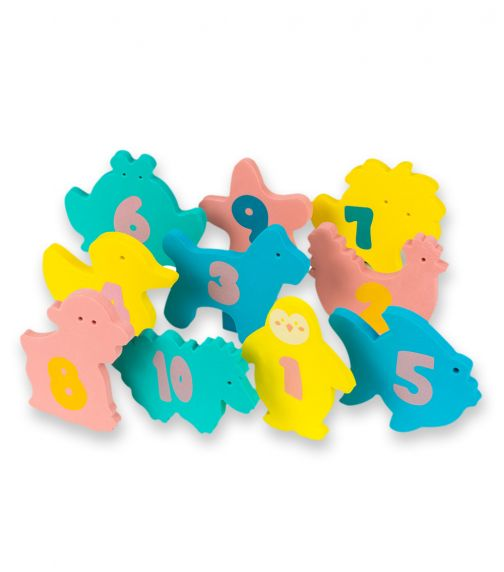 CLEVAMAMA Pebbles N Friends Ply N Learn Bath Toy With Tidy Bag