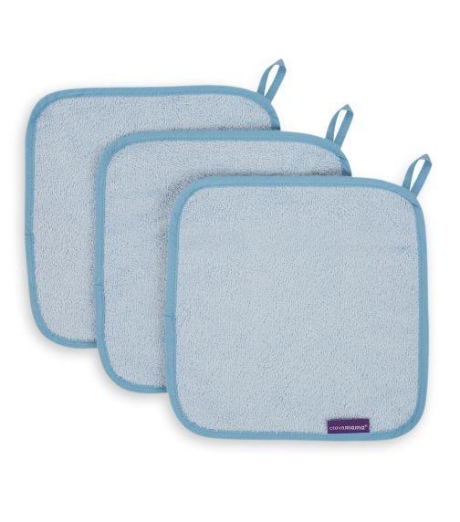 CLEVAMAMA Bamboo Baby Washcloth Set (3 Pack)
