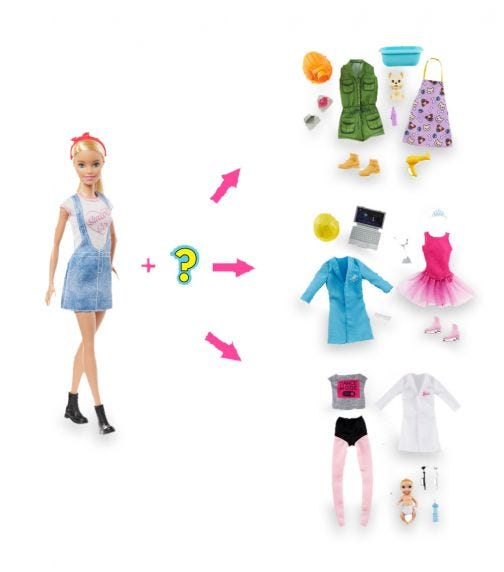 BARBIE Surprise Careers With Doll And Accessories