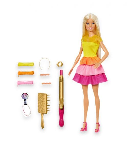 BARBIE Ultimate Curls With Doll Playset