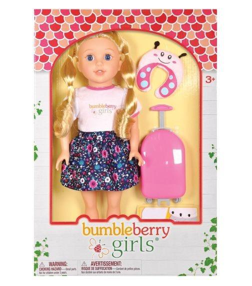 "LOTUS 15""38Cm Soft-Bodied Girl Doll Brinley Travel Set"