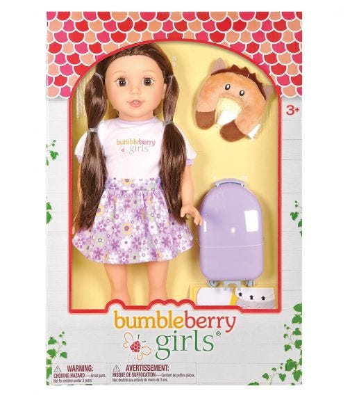 "LOTUS 15""38Cm Soft-Bodied Girl Doll Caucasian Travel Set"