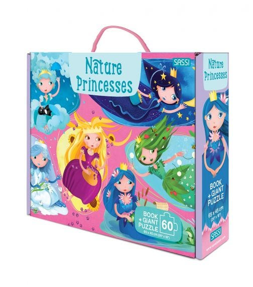 SASSI Giant Puzzle And Book Nature Princesses
