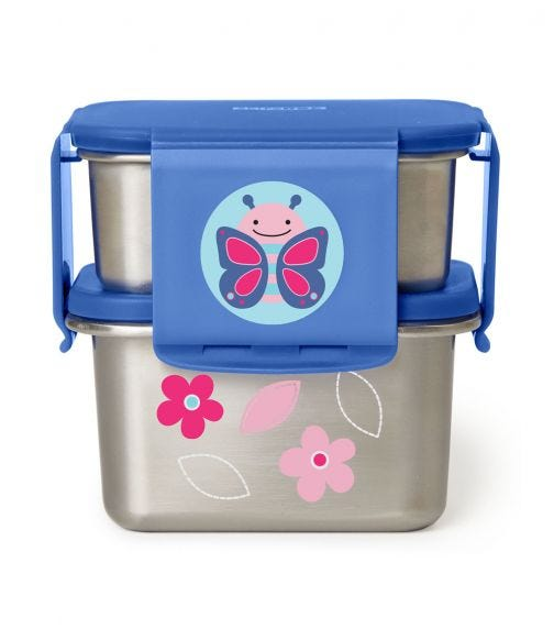 SKIP HOP Zoo Stainless Steel Lunch Kit Butterfly
