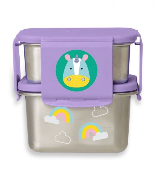 SKIP HOP Zoo Stainless Steel Lunch Kit Unicorn