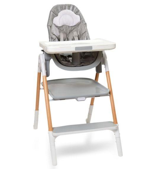 SKIP HOP Sit-To-Step Highchair Grey/White