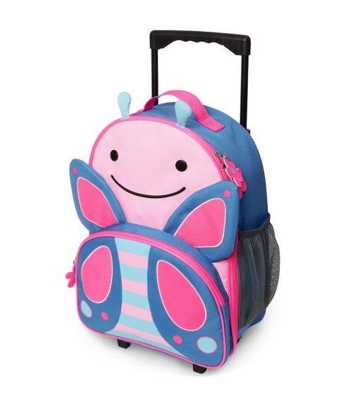SKIP HOP Zoo Kids Rolling Luggage Butterfly