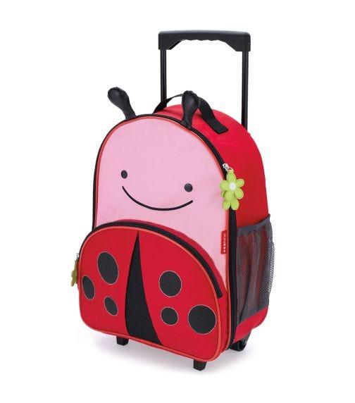 SKIP HOP Zoo Kids Rolling Luggage Ladybug
