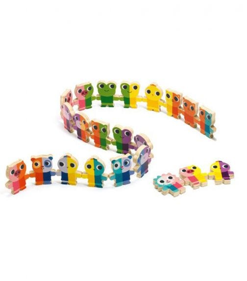 DJECO Domino Up Wooden Game
