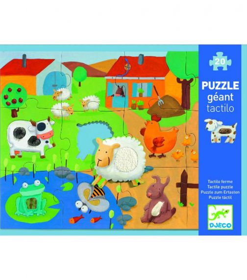 DJECO Farm Tactile Puzzle