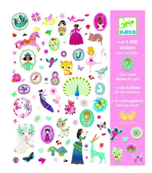 DJECO Stickers For Girls