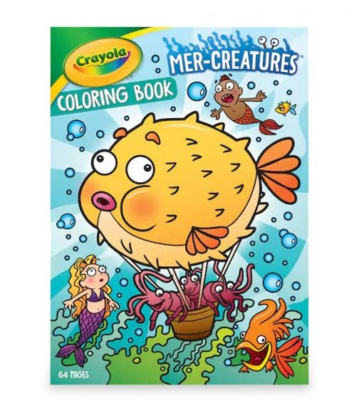 CRAYOLA 64 Pages Mercreatures Coloring Book