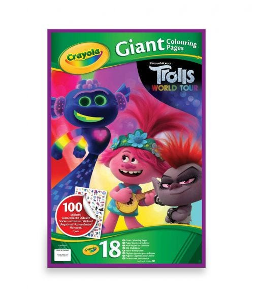 CRAYOLA Giant Coloring Pages Trolls World Tour