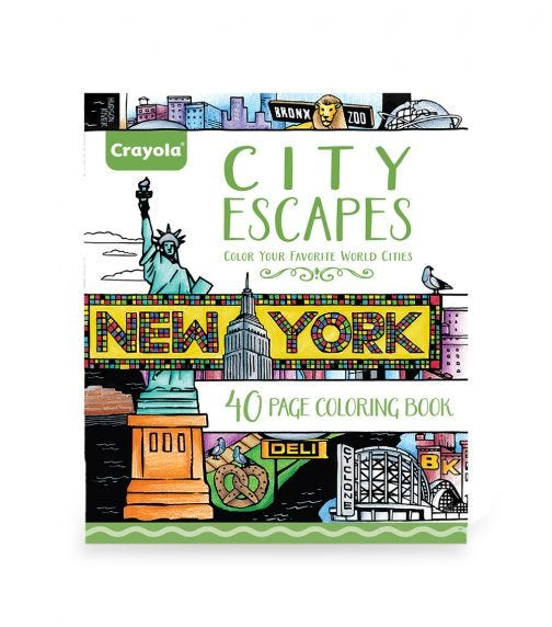 CRAYOLA Adult Coloring City Escapes Coloring Books