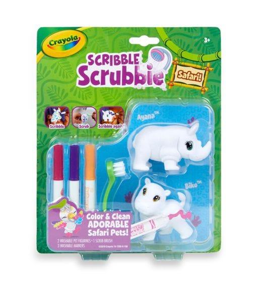 CRAYOLA Scribble Scrubbie Set - Rhino & Hippo