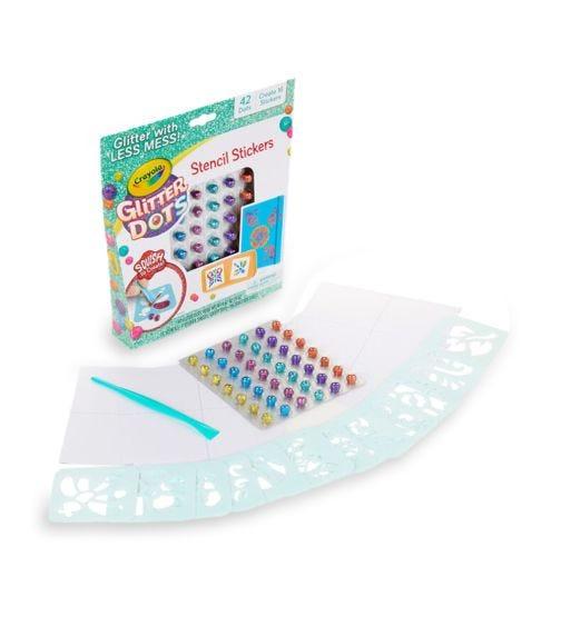 CRAYOLA Glitter Dots Sticker Stencils