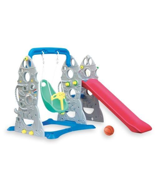CHING CHING Rocket Slide + Swing Set