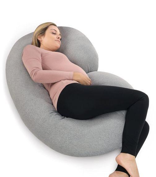 PHARMEDOC Full Body Gnachy Maternity Pillow C Shaped