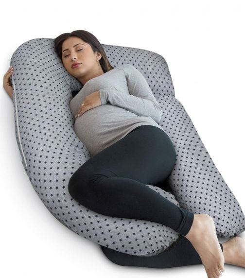 PHARMEDOC Full Body Gnachy Maternity Pillow U Shaped