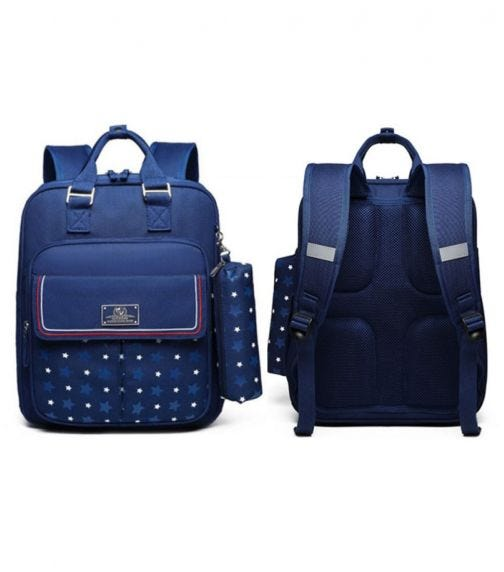 SAMBOX - Star Kids School Bag With Pencil Case